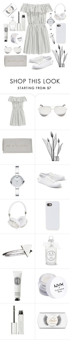 """⚪️⚪️⚪️"" by ilayda-argn ❤ liked on Polyvore featuring H&M, Victoria Beckham, Neiman Marcus, Pottery Barn, Movado, Lacoste, Frends, LMNT, Rachel Jackson and Diptyque"