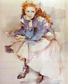 Contemplação Christine Comyn (Bélgica, 1957) Aquarela sobre papel