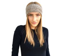 Warm Headbands, Headbands For Women, Cashmere Beanie, Cashmere Color, Cold Weather Outfits, Knitted Headband, Elegant Outfit, Ear Warmers, Shawls And Wraps
