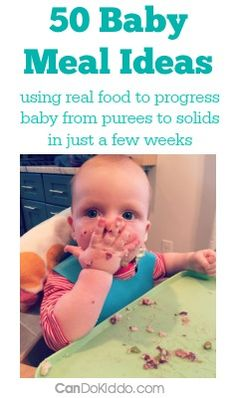 A pediatric OT and mommy shares her plan for introducing solids PLUS a list of 50 nutritious first meals for baby. CanDo Kiddo