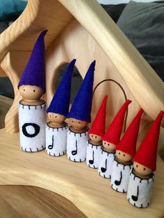 Waldorf music gnomes for Mr. Reedy! Whole, half, and quarter notes.
