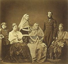 Peasant family from the Borovsky District of Tula Province by Andrei Karelin. 1870