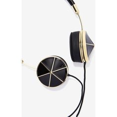 Frends Layla Black Enamel Headphones (4,135 DOP) ❤ liked on Polyvore featuring accessories, tech accessories, frends headphones, iphone headphones, apple iphone headphones and ipod headphones