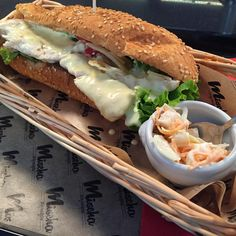 Caesar Salad Sandwich Hot Dog at Mischa's Hot Dog Joint - Geneva Switzerland