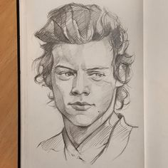 Harry Styles Dibujo, Harry Styles Drawing, Character Sketches, Art Sketches, Long Hair Drawing, Harry Styles Long Hair, One Direction Drawings, Sketch Painting, How To Draw Hair