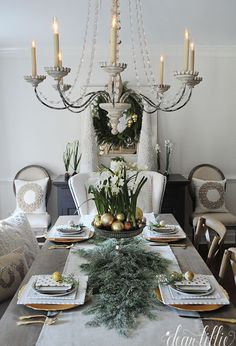 We found a mix of beautiful white and gold plates and large oversized white trees all at HomeGoods to help deck out our dining room for the holiday! (sponsored pin)