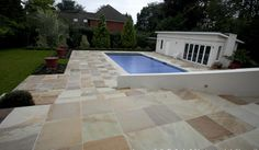 Natural around a pool and laid on steps Pool Coping Tiles, Sandstone Pavers, Pool Paving, Tiles Price, Himalayan, Teak, Patio, Outdoor Decor, Floors