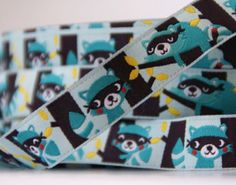 woven ribbon 'Racoons' by ByBora on Etsy, $2.50