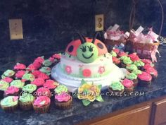 Ladybug Baby Shower Cake... This website is the Pinterest of birthday cake ideas