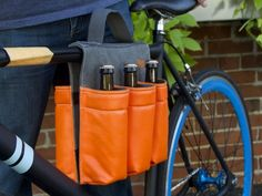Bicycle Panniers by Donkey - They need a version that would carry a growler.