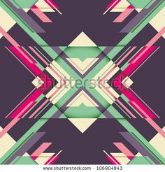 Futuristic abstraction with geometric shapes. Vector illustration. by Radoman Durkovic, via ShutterStock