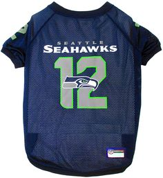 Pets First NFL Seattle Seahawks '12th Man' Raglan Pet Jersey, XX-Large *** Discover this special cat product, click the image : Cat Apparel