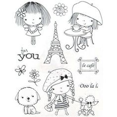 Mimi in Paris Clear Stamps