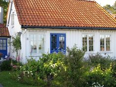 white wood house