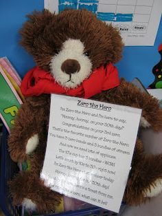 My kinderkids look forward to seeing Zero the Hero visit our room every tenth day. They start counting down the days until he comes again as. Kindergarten Language Arts, Language Activities, Kindergarten Activities, Preschool Ideas, Teaching Ideas, Morning Meeting Kindergarten, Kindergarten First Day, 100 Days Of School, First Day Of School