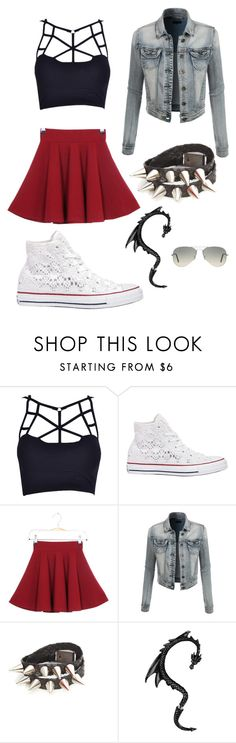 """""""Untitled #197"""" by angela229 ❤ liked on Polyvore featuring Converse, LE3NO, Ray-Ban, women's clothing, women, female, woman, misses and juniors"""