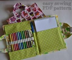 Sewing Gifts Name: 'Sewing : Craft and Crayon case - Sand Crafts, Fun Diy Crafts, Homemade Crafts, Diy Craft Projects, Craft Tutorials, Sewing Tutorials, Sewing Projects, Sewing Patterns, Skirt Patterns