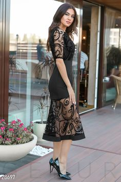 8af384dc677f785 Gepur   Праздничное платье-рыбка арт. 28697 Цена от производителя,  достоверные описание,