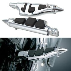 57.00$  Buy now - http://alizcw.worldwells.pw/go.php?t=32256990764 - Aftermarket free shipping motor parts For Motorcycle Harley Softail Sportster Dyna Glide Fat Boy Stiletto Pegs Foot pegs CHROMED 57.00$