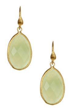 18K Gold New Jade Dangle Earrings