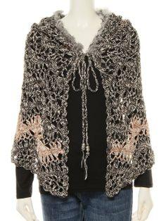hairpin lace crochet cape