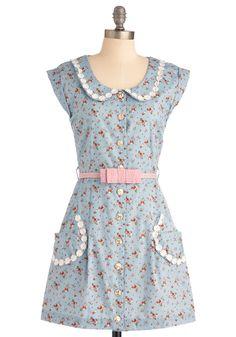 Breath of Fresh Prairie Dress in Sky   Mod Retro Vintage Dresses   ModCloth.com