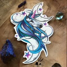 Unicorn Tattoo - Unicorn Temporary Tattoo - Purple Unicorn - Beautiful Unicorn Accessory for Unicorn Lovers by OctaviaTattoo on Etsy