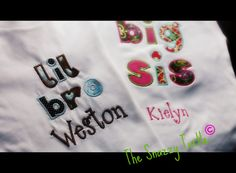 little brother and big sister shirts..