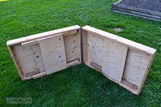 Portable folding workbench, a DIYer dream workbench ~ Funky Junk