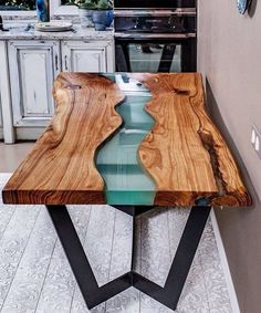 Trends you need to know resin wood table for your furniture - Resin table - Etsy Furniture, Resin Furniture, Furniture Design, Furniture Ideas, Dining Furniture, Furniture Makeover, Epoxy Table Top, Wood Resin Table, Wood Slab Table