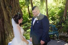 "Danielle and Nick chose Luau Pointe for their 2019 wedding ceremony because they wanted a cool, shady spot that felt—but didn't shout—""Disney""!"