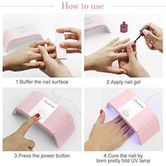 UV Gel Nail Lamp 36W Foldable Nail Dryer for Gel Nail Polish with 2 Time Presets USB Plug Portable Gel Nail Light for Fast & Painless Drying Fingernails