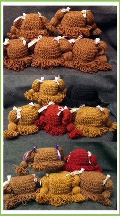 Lately the only project I've been working on are cabbage patch doll hats, LOTS of them, this photo only shows some of the hats I've made over the last few weeks. I'm not sure why the hats suddenly ...