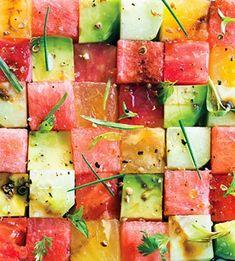 tilbehør af melon, avokado m.v. #avokado og melonsalat