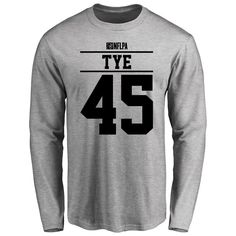 Will Tye Player Issued Long Sleeve T-Shirt - Ash