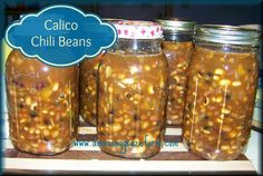 Make your own Chili Beans for the cooler months!