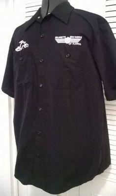 Men's Black Orange County Chopper of South Florida Button Front Shirt Sz - XL #OrangeCountyChopper #ButtonFront