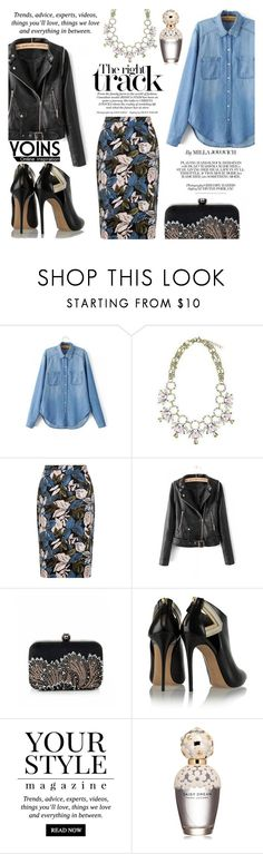 """""""Yoins 10"""" by kenguri ❤ liked on Polyvore featuring Casadei, Pussycat, Marc Jacobs, women's clothing, women's fashion, women, female, woman, misses and juniors"""