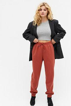 Joggers, Sweatpants, Asos, Crop Top Outfits, Monki, Drawstring Waist, Long Sleeve Tops, Organic Cotton, Thighs