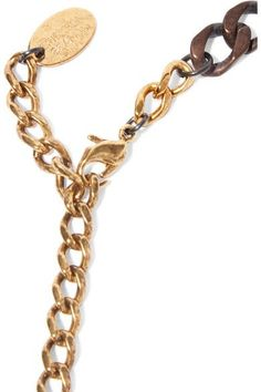 Erickson Beamon - The Affair Gold-plated, Swarovski Crystal And Faux Pearl Necklace - Bronze