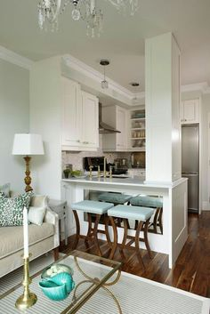 House of Turquoise: Sarah 101 - Sarah Richardson! House Of Turquoise, Turquoise Kitchen, Sweet Home, Kitchen Living, Kitchen Small, Kitchen Ideas, Open Kitchen, Kitchen Island, Kitchen Backsplash