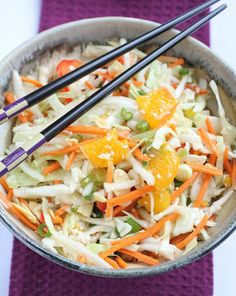 Healthy Girl's Kitchen: Asian Cabbage Slaw
