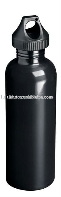 www.lltbottles.com stainless steel wide mouth bottle with color painting logo customzied 750ml single wall with black sport cap bpa free food grade