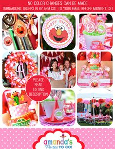 Elmo Birthday SALE Elmo Party Printable por AmandasPartiesToGo