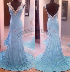 Elegant Double V-Neck Party Dresses,Backless Party Dresses,Long Party Dresses,Simple Party Gowns
