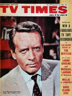 Sixties | Patrick McGoohan, star of The Prisoner, on the cover of TV Times magazine.