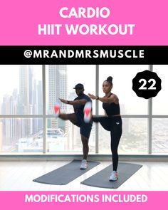 Add this intense full body HIIT exercise to your workout plan to burn fat and build muscle # Fitness videos Cardio HIIT Workout Hiit Workout Videos, Fitness Workouts, Power Workout, Full Body Hiit Workout, Hiit Workout At Home, Training Fitness, Cardio Workout At Home, Cardio Training, Gym Workout Tips