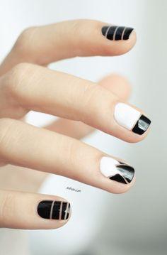 Nail art inspired by Alexander Wang