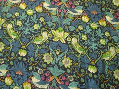 "LIBERTY PRINTS CRAFT FABRIC ""STRAWBERRY THIEF GREEN B "" 24 X 34 CM,TANA LAWN in Crafts, Sewing & Fabric, Fabric | eBay"