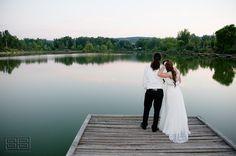 Esküvő naplementében